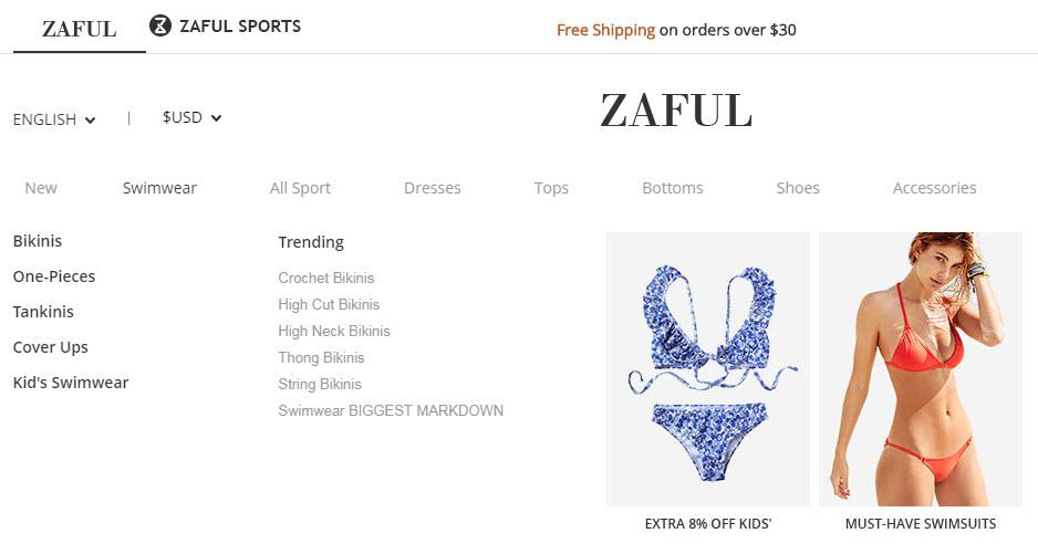 Zaful un sito che vende costumi da bagno a buon mercato - Costume da bagno in spagnolo ...